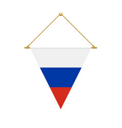 russian triangle flag hanging vector image