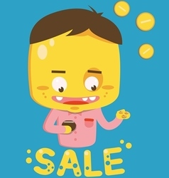 Sale boy vector