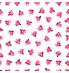 seamless pattern of pink heart light bulb vector image
