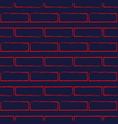 Seamless pattern of stylized brick wall vector