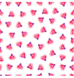 seamless pattern pink heart light bulb vector image