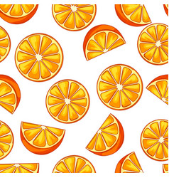 seamless pattern with oranges vector image