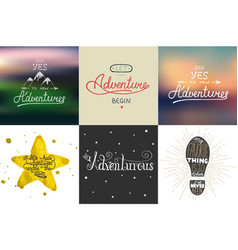 Set of adventure and travel hand drawn unique vector