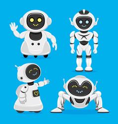 Set of cute robots vector