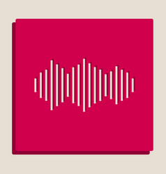 sound waves icon grayscale version of vector image