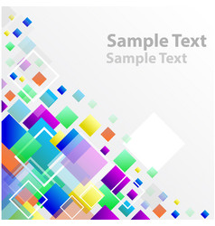 Square abstract banner vector