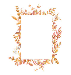 Square frame with autumn leaves and branches vector