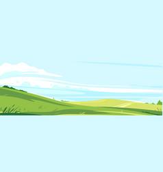 summer green lawns landscape background vector image
