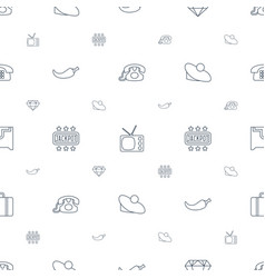 vintage icons pattern seamless white background vector image