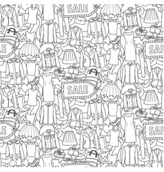 woman clothes sale seamless pattern vector image vector image