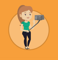 woman making selfie vector image