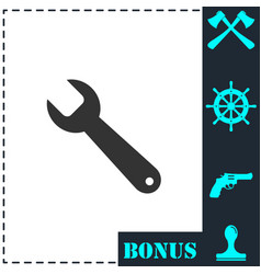 wrench icon flat vector image