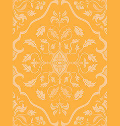 Yellow pattern with damask vector