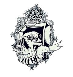 Zombie skull vector