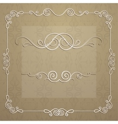 elegant frame for design vector image