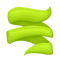 green curved sticker isolated vector image vector image