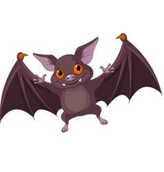 Halloween bat flying vector image vector image