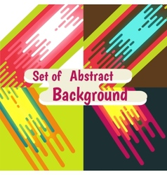 set of Abstract colorful curve background design vector image vector image