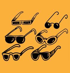 sunglasses set vector image vector image