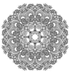 black and white circle ornament ornamental round l vector image