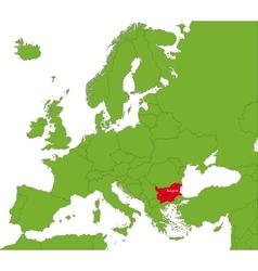 Bulgaria map vector image