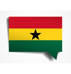 ghana paper 3d realistic speech bubble on white vector image