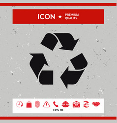 recycle sign isolated on white background vector image