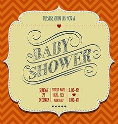 baby shower invitation in retro style vector image