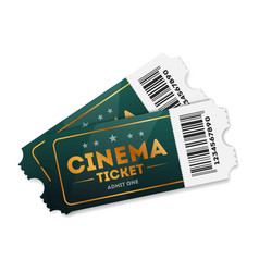 cinema tickets on white vector image