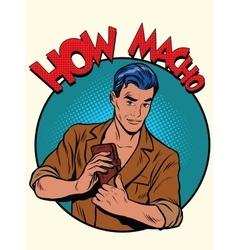 how macho male purse money vector image