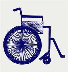 Invalid chair vector image vector image