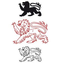 Medieval heraldic lion vector image