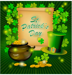 st patricks day greeting happy st patricks vector image vector image