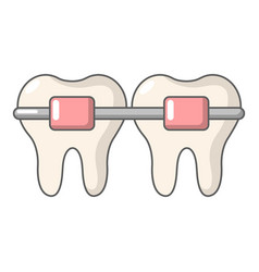 dental brace icon cartoon style vector image