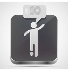 Football app icon vector image