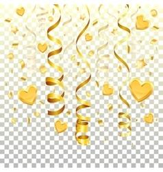 Gold Streamer on transparent background vector image