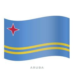 Aruba waving flag icon vector