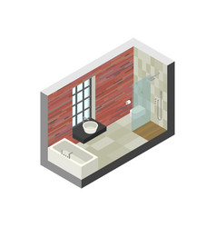 bathroom in isometric view vector image