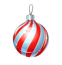 christmas ball for firtree vector image