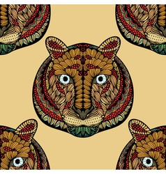 Colored Seamless Tiger pattern vector