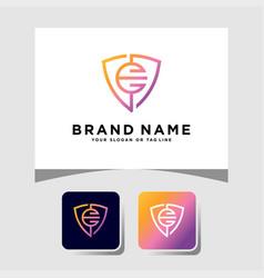 Colorful logo design letter e vector