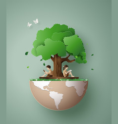 Concept of ecology and environment vector