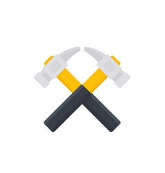 Crossed hammers logo vector