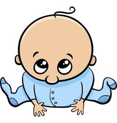 Cute baby boy cartoon vector