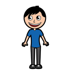 cute body man cartoon vector image
