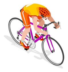 Cycling Road 2016 Sports 3D Isometric vector