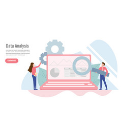 data analysis concept with character creative vector image