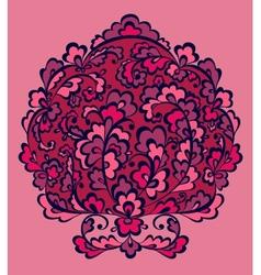 Decorative flowers element vector image