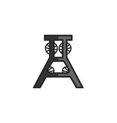 draper fold down workbench cinema logo design vector image