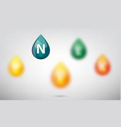 drop of vitamins vector image